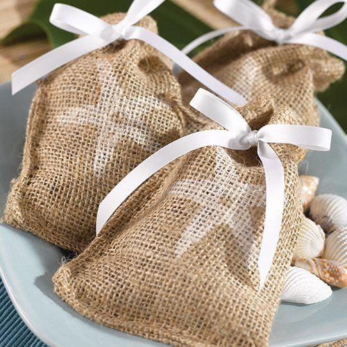 Themed Burlap Favor Bags WeddingsOutdoor WeddingsWedding BeachBurlap