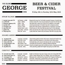 A great selection of Ales and Ciders this weekend at the Ye Olde George Inn, Christchurch.