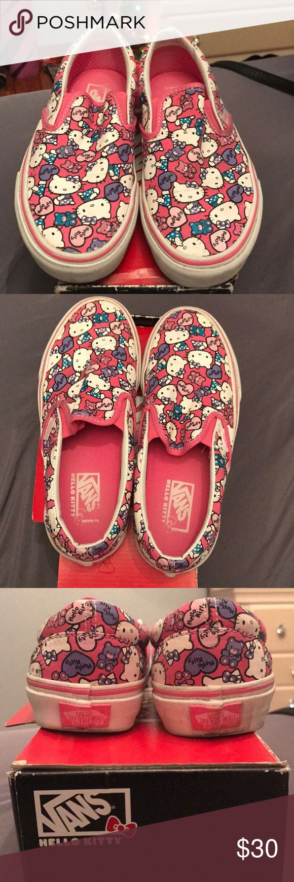 Hello Kitty Vans Used Hello Kitty vans in good condition Vans Shoes Sneakers