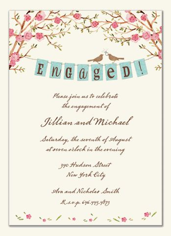 24 best Engagement ideas images on Pinterest Blue green weddings - engagement invitation words