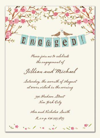 19 best Engagement invitation images on Pinterest Engagement - how to word engagement party invitations