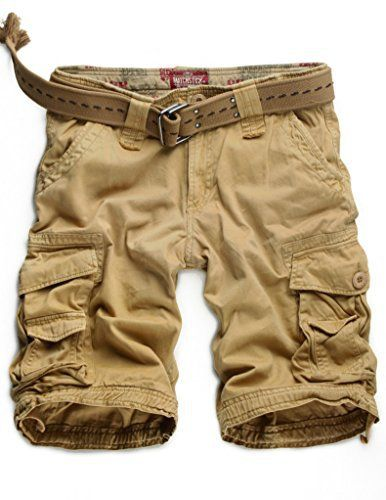 Match Cargo Shorts Sergé pour Homme #S3612: élégant et confortable, ces cargo shorts avec multi-poches généreuses de Match sont parfaits…