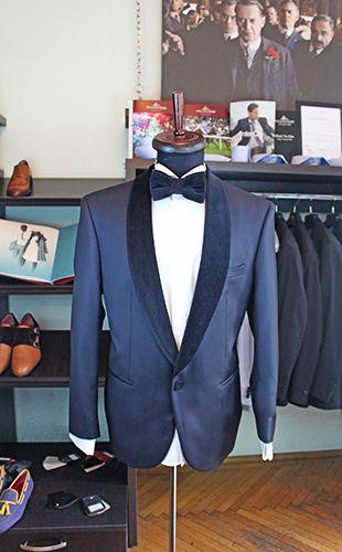 Gabriel Bespoke velvet collar tuxedo. Cloth by Vitale Barberis Canonico.  www.gabrielbespoke.com