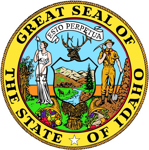 The state seal of Idaho.