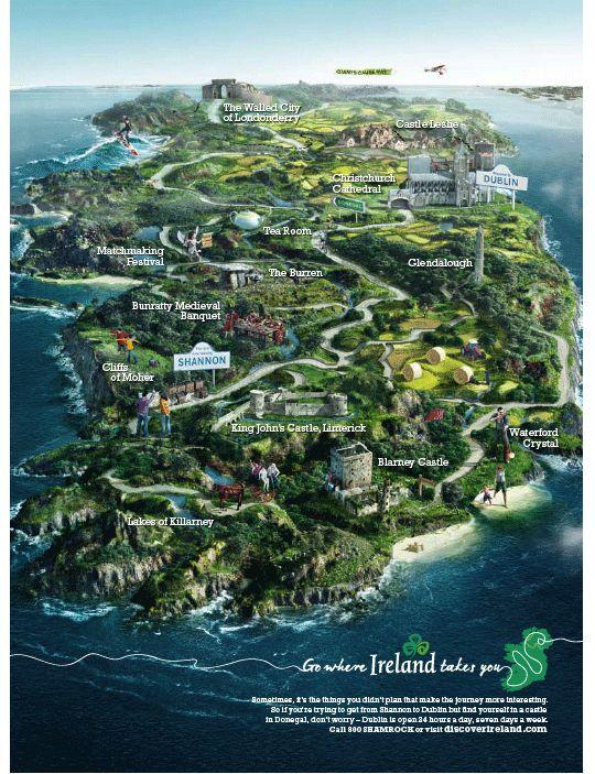 Mapa de Irlanda...                                                       …