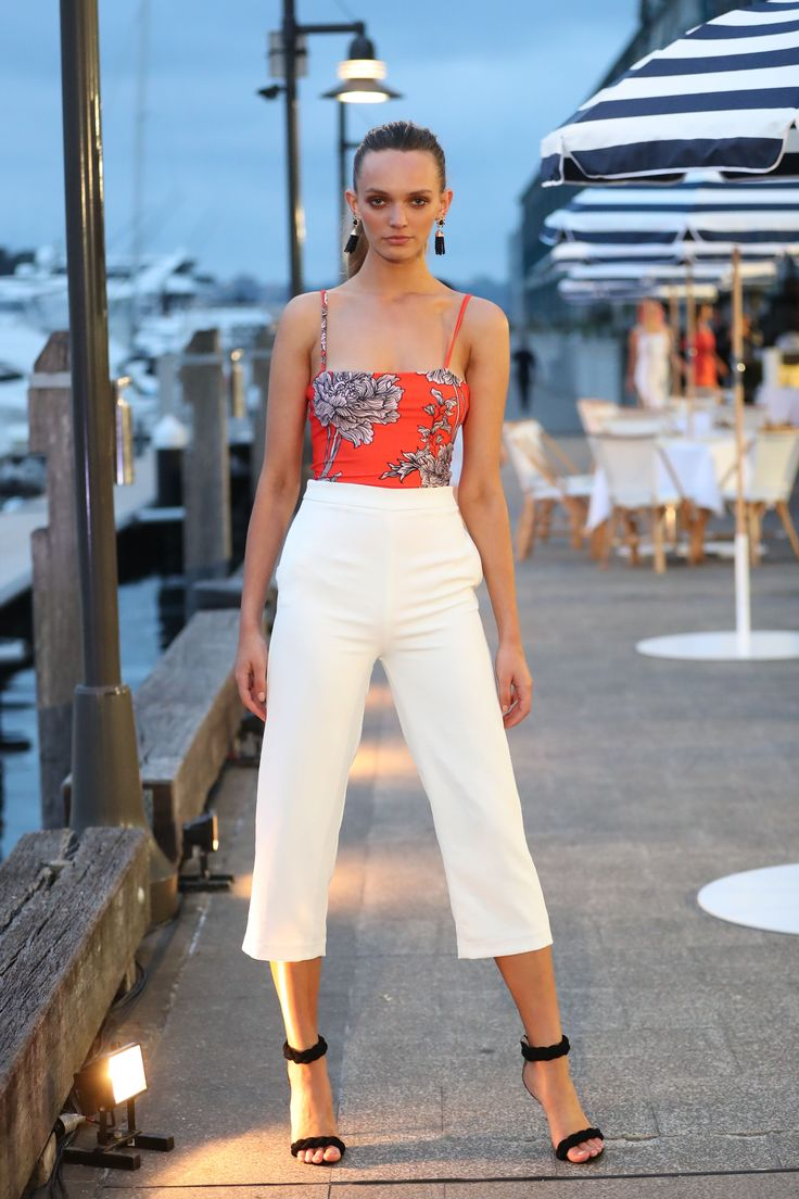 Kookai Botanic Bodysuit and Oyster Pants