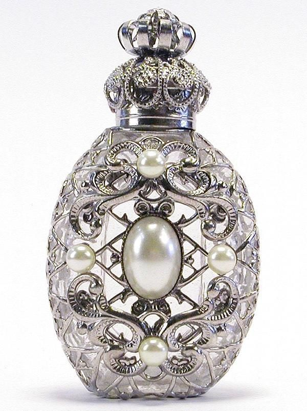 Vintage Czech Hand Made Perfume Bottle With Topper  #BookofLostFragrances #Suspense #Novel