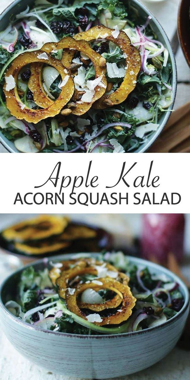 Kale Salad With Apples And Roasted Acorn Squash Recipe With
