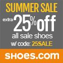 Shoes.com Offers 25% Off of Sale and Clearance Items!