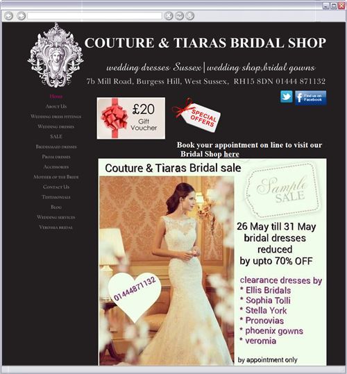 OUR BRIDAL SALE IS FROM 26 MAY FOR 1 WEEK ONLY