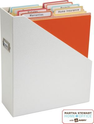 Genius! File folders that actually fit vertical files. Martha Stewart Home Office™ from Staples