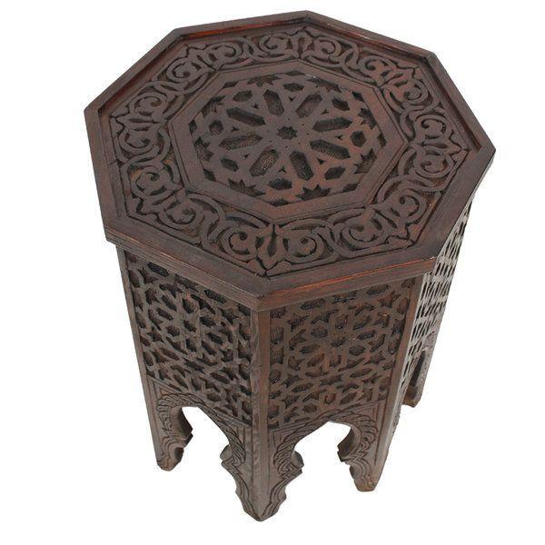Marokkanischer Holz Beistelltisch