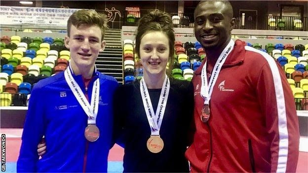 Bradly Sinden Lauren Williams and Mahama Cho pose with their medals at the World Taekwondo Grand PrixSinden  is also enjoyed an impressive first full season as a senior fighter  having landed world bronze in the non-Olympic -63kg category in June. The  19-year-old showed no discomfort stepping up to the Olympic -68kg  division beating two-time world gold medallist and London 2012 Olympic  champion Joel Gonzalez Bonilla of Spain 16-9 in the semi-finals. He  controlled much of the final…