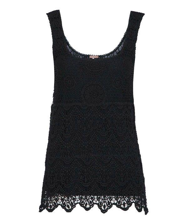 Vintage Embroidery Hammock Lace Tank