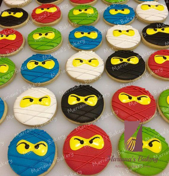 Lego NinjaGo Sugar 4 5 Cookies 1 Dozen By MarianasBakery On Etsy