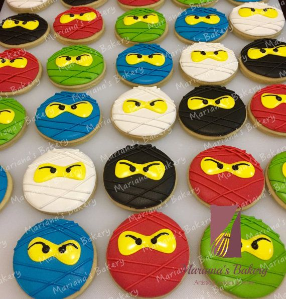 Lego NinjaGo sugar 4-5 cookies 1 dozen by MarianasBakery on Etsy