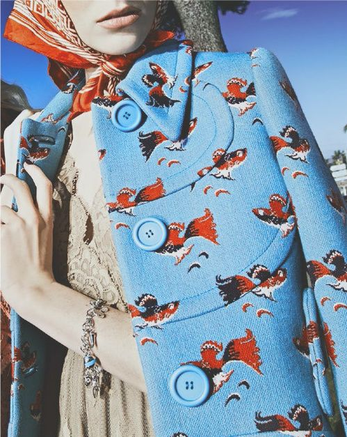 "sfilate: "" Miu Miu S/S 2014 photographed by Steve Hiett for Vogue Italia Suggestions, February 2014 """