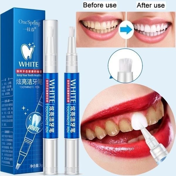 Teeth Whitening Gel Pen Quick Remove Stain Yellow …