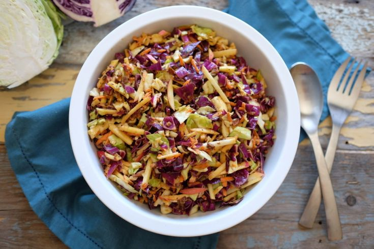 Paleo Coleslaw with Apples and Bacon  | Paleo Movement Magazine | Paleomovement.com | #paleomovement
