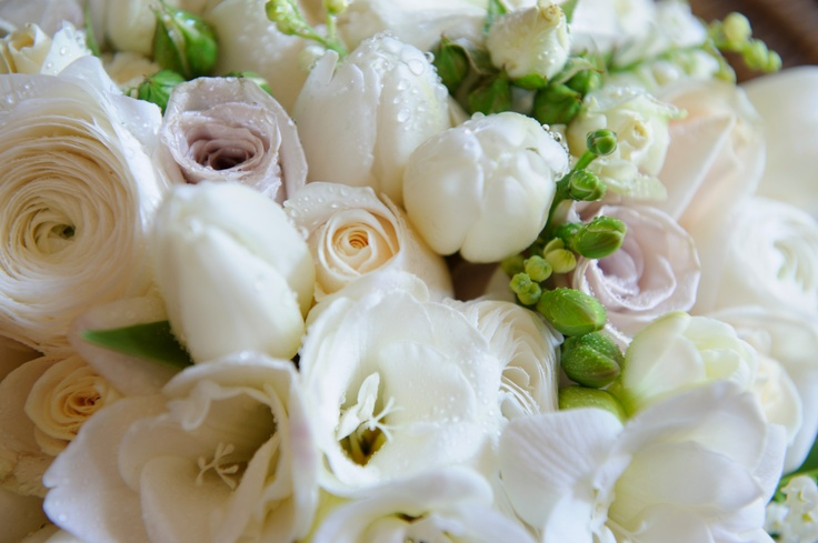 Frances Dunn Florist  Mixed Posy - Roses, Freesia, Tulip, Renuccular and Lily of the valley