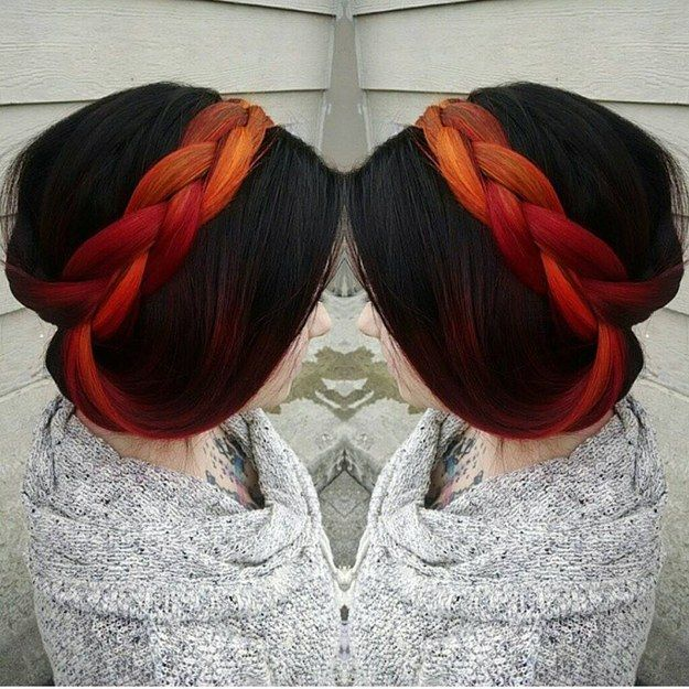 Hint of Fiery Red | 17 Secretly Bold Hair Colors You Can Actually Wear To Work