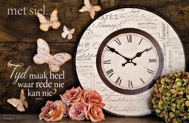 tyd/time, vlinders/butterflies, sagte pienk rose/ soft pink roses. Foto: Candice Askham www.leef.co.za