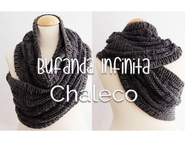 La versión más fácil para tejer el famoso cuello-bufanda infinita-chaleco…