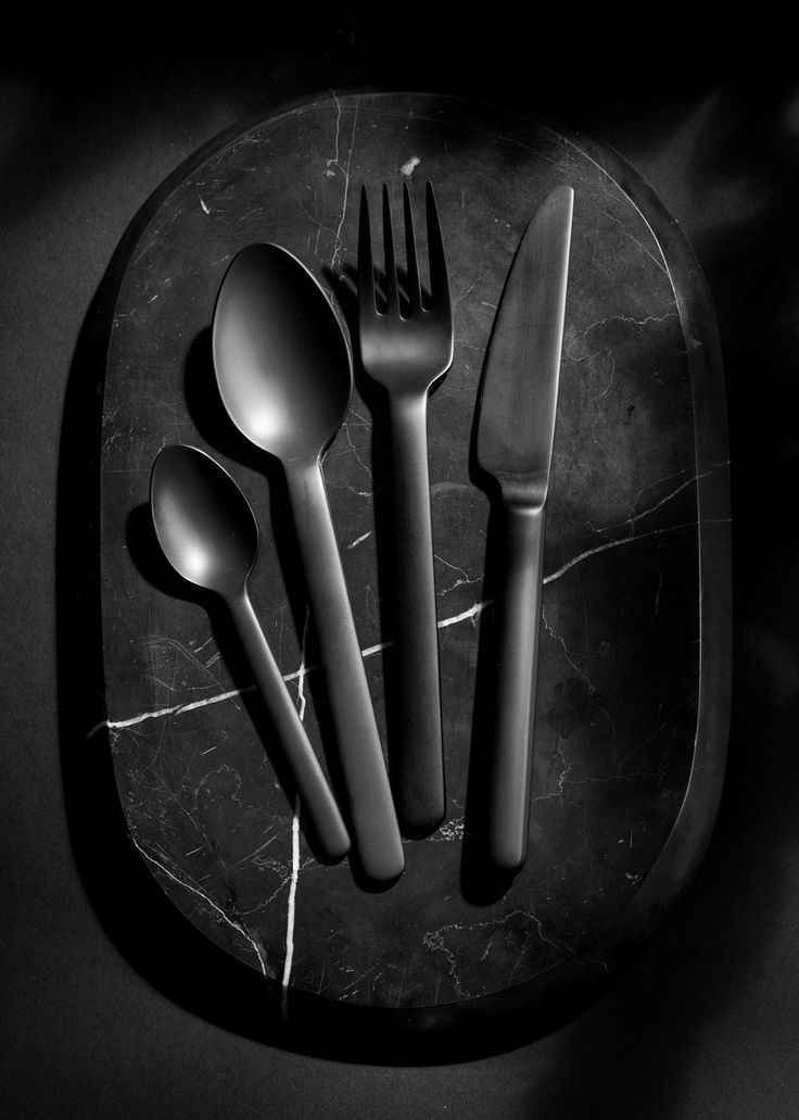Black Cutlery By Menu, Design By Norm Architects Image Credit: Jonas  Bjerre Poulsen