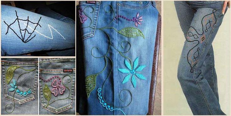 Как украсить детские джинсовые джинсы