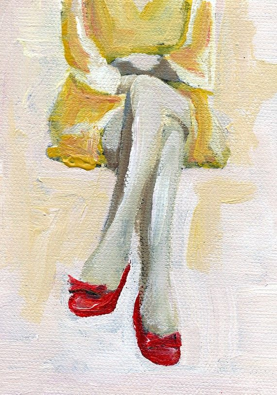 Woman in red heels: Little Red, Beautiful Paintings, The Artists, Red Shoes, Woman, Lisa Golightly, Red Heels, Red Art, Red Bows