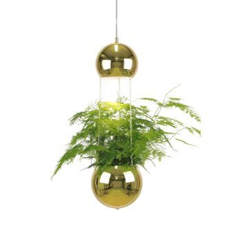 The Planter ceiling lamp with flower pot is a lamp that is bound to start conversation. The lamp was designed by Anna Andersson for the Swedish design brand Globen Lighting. The lower bulb is waterproof and provides space for some lovely greenery. The lamp makes for a great detail in a kitchen with herbs or in the living room.