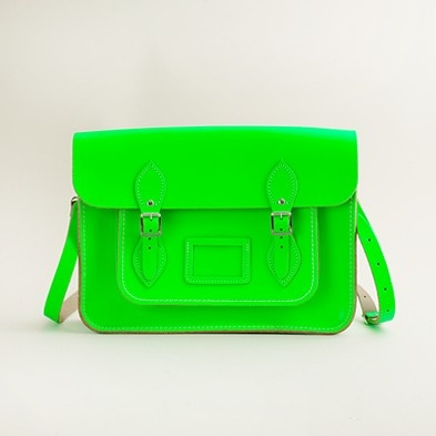 Cambridge Satchel Company for J. Crew -- they're selling this as a girl's school bag, but I kinda want one.