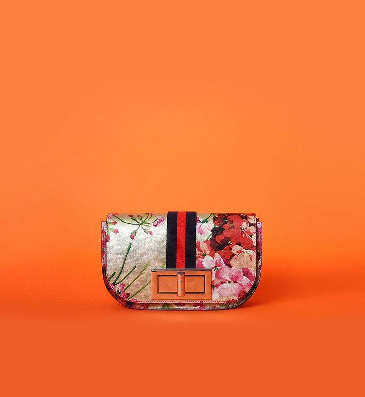 Otenberg flora print leather flap bag s2017 #otenberg #bags