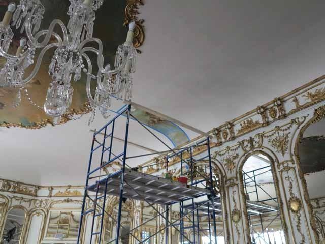Slideshow hidden ochre court painting at salve regina universit news weather and classifieds