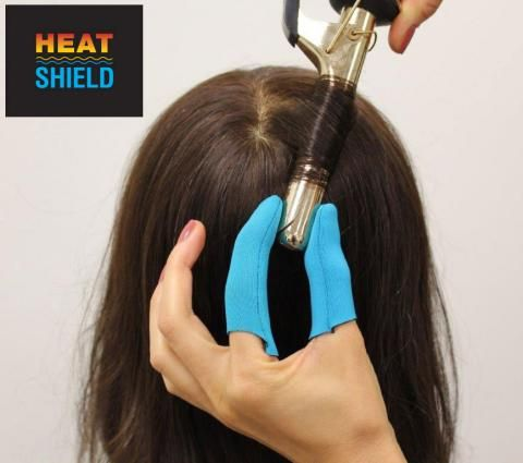 Swap Your Clunky Heat Resistant Curling Gloves for Heat Shields | Modern Salon. Need these in my life.