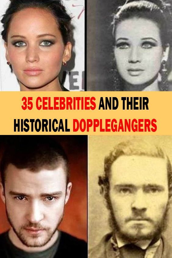 35 Celebrities and Their Historical Dopplegangers