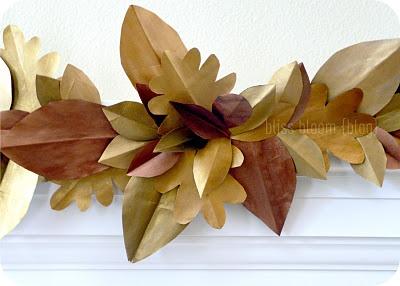 Brown Paper Bag Garland- Love it!