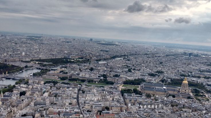 City of Paris from the top of Eiffel Tower