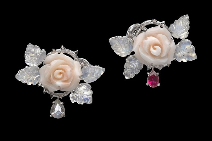 Theodoros roses and thorns earrings