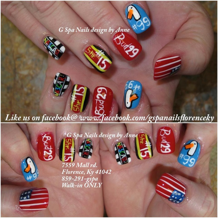 Nascar nail designs - 27 Best Nascar Nails Images On Pinterest Nascar Nails, Manicures