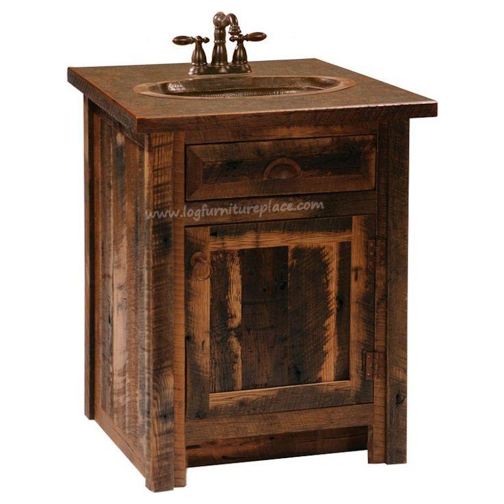 Reclaimed Cottage Rustic Barnwood Vanity Add Aditional Vanity Stunning1 My New Bathroom