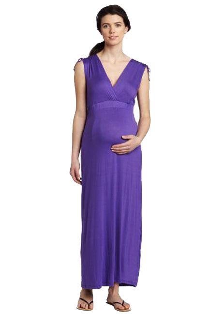 www.duematernity.com Sleeveless Purple Maternity Maxi Dress | Maternity Clothes