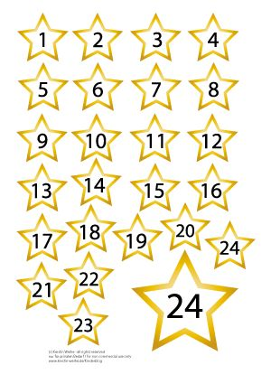Adventskalenden Zahlen zum Ausdrucken / Printable numbers for your Advent calendar