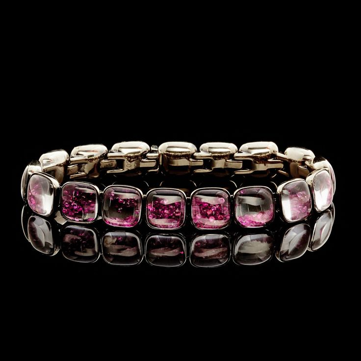Mattia Cielo 18Kt Gold Ruby & Black Diamond Bracelet - 66mint Fine Estate Jewelry