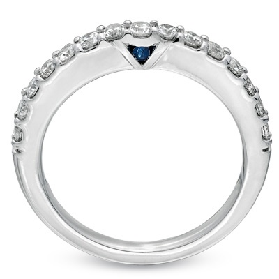 this vera wang wedding band with the sapphire