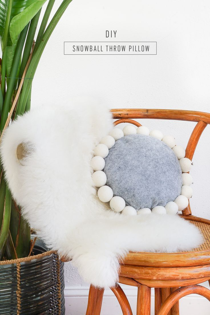 686 best diy home decor images on pinterest projects plants and diy diy snowball pillow