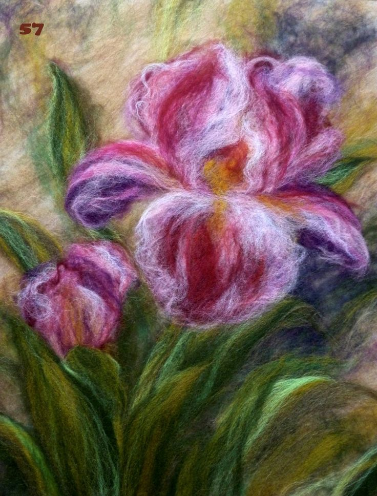 wool painting tutorial - Love this!! Need to get my felting attachment out and learn how to use it! Beautiful framed or as a pillow top!
