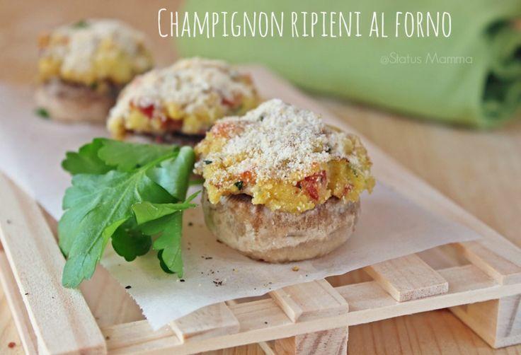 Champignon ripieni al forno ricetta semplice veloce economica antipasto fingerfood cucinare cucina foodporn