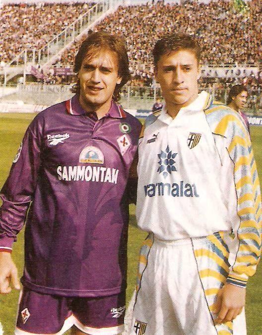 Batistuta e Crespo. Calcio Italiano