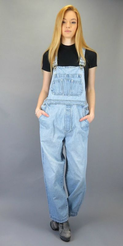 Vintage 90s Denim Jean Overalls GAP Blue Jeans Suspender Jumpsuit Overall Pants Baggy Coveralls Hipster Grunge Normcore Oversized Slouch Fit by BlueFridayVintage on Etsy